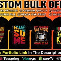 I will create custom graphics t shirt design and bulk t shirt design for your business, #graphics, #sponsored, #custom, #create Shirt Designs, Graphics, Create, Business, T Shirt, Supreme T Shirt, Tee Shirt, Graphic Design, Store