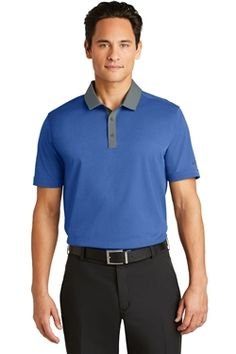 Nike Golf 779798 Dri-FIT Heather Pique Modern Fit Polo Shirts