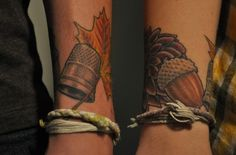 Matching Peter pan tattoo. Never would do this, but still cool.