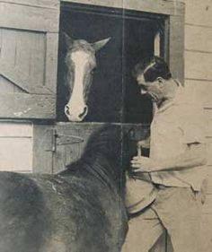Wesley Dennis and his horses: archival photo