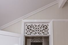 Renovating a Queenslander: Mouldings - Picture rails, skirting, architraves, cornicing and hall / heritage archways Queenslander House, Cottage Renovation, Home Renovation, Edwardian House, Architrave, Picture Rail, Breezeway, Cedar Homes, Door Molding