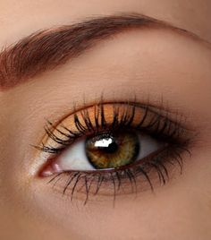 Wear warm autumn oranges to bring out the best in your eyes. This makeup is wearable day or night.