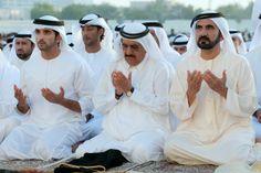Hamdan MRM, Hamdan RSM and Mohammed RSM, Eid Al Adha Prayer in Grand Eid Musallah in Bur Dubai (06/11/2011) Taken by Ali Essa