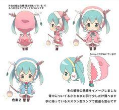 snow miku 2015 | Flower Snow Fairy' for Nendoroid Snow Miku: 2015 ver.'s Concept ...