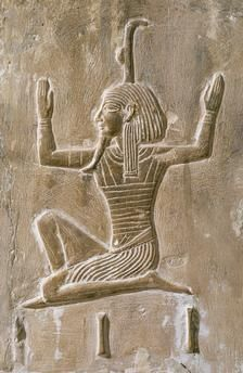 relief carving in the tomb of Seti I, KV17 in the Valley of the Kings at Thebes, Luxor Egypt.