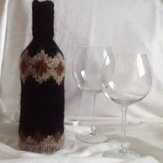 wine bottle covers handmade knitted gift by mybeautifulmonster