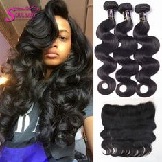 Human Hair Weaves Objective Ccollege Frontal With Bundles Brazilian Body Wave Human Hair Bundles With Frontal Closure Perruque Lace Frontal Cheveux Non-remy High Quality Goods
