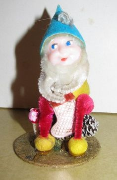 Vintage Christmas Elf Putz Pixie Elves Gnome by TheIDconnection, $15.00