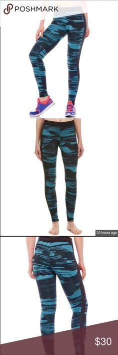 Puma Blurred Lines Blue Leggings. NWT New with tags. Puma Blurred Lines black and blue leggings. XL Puma Pants Leggings