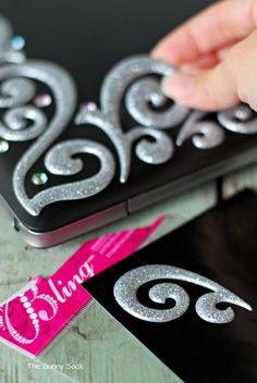 Apply Bling To Laptop Bling Crystal Laptop Cover Custom Case Design Pretty Pink Fashion Modern Skin Computer Windows PC Mac Apple Macbook DIY