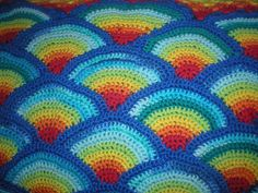 Ravelry: Project Gallery for Rainbow baby afghan pattern by Helen Free