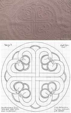 1200-1250 tablecloth East Switzerland, whitework embroidery. Landesmuseum Zürich. Design 3