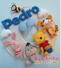 porta maternidade ursinho Pooh feltro