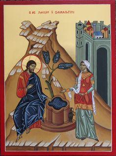 Jesus with St. Photini, the Samaritan Woman by Katarzyny Kobyszewskiej