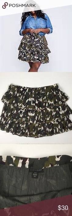 87669c5512 NWOT Lane Bryant Tiered Camouflage Skirt Lane Bryant Women's Camouflage Tiered  Skirt New Without Tags Size