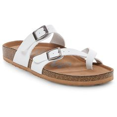 Women's Mad Love Prudence Footbed Sandals - White 9