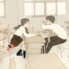 Animated gif about gif in ✨illustration of love✨ by Boss Couple Illustration, Character Illustration, Digital Illustration, Cute Couple Art, Anime Love Couple, Aesthetic Art, Aesthetic Anime, Anime Couples, Cute Couples