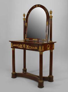French Empire table dressing table mahogany