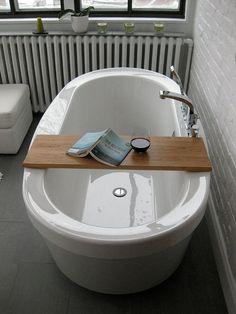 claw tub with a reading plank would be #bathroom design ideas #bathroom interior #bathroom decorating #bathroom design| bathroomdesigncol...