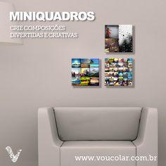 Use sua criatividade e crie miniquadros para sua decoração :)