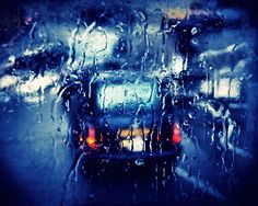 London Abstract - Taxi in the rain at night - 8x10 Fine Art London Photograph from Etsy Shop RonyaGalka ($25)