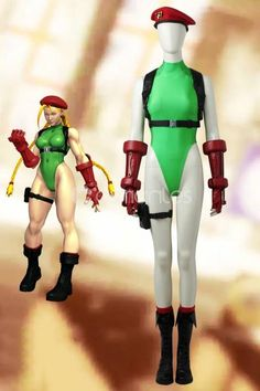 Street Fighter V Cammy White Cosplay Costume With Boots