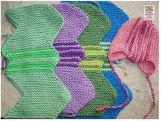 Non tau bay Baby Hats Knitting, Knitting Charts, Knitting For Kids, Easy Knitting, Crochet For Kids, Baby Knitting Patterns, Sewing For Kids, Knitted Hats, Knit Baby Dress
