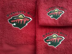 Minnesota Wild NHL Logo Embroidered Red by EmbroideryByStacy, $6.00