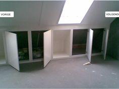 Storage ideas for loft Attic Loft, Loft Room, Bedroom Loft, Attic Inspiration, Loft Storage, Storage Ideas, Barn Renovation, Attic Bedrooms, Attic Remodel