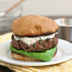 Spicy Poblano Burgers with Chipotle Cream by Tracey's Culinary Adventures, via Flickr