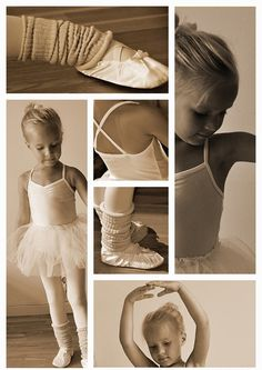 Prima ballerina Photoshop collage from fun photoshoot at home