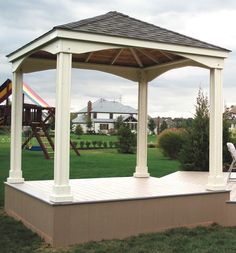 Another wooden gazebo.