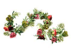 Artificial Bohemian Gypsy Rose Garland