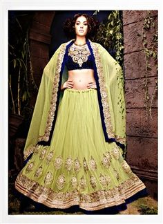 Green Net Fabric Designer A-Line Lehenga Choli  PRODUCT CODE: FB0387 AVAILABILITY: In Stock  ₹ 8595.00