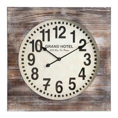 Have to have it. Cooper Classics Augusta Wall Clock - 27W in. - $178 @hayneedle