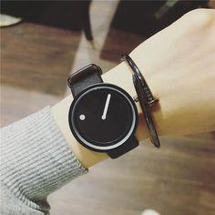 Dot and Line Minimalist Unisex Wrist Watch