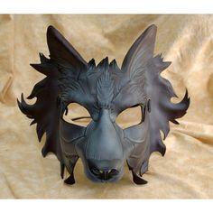 Wolf masker die alleen de ogen bedekt met veel details en oren erboven