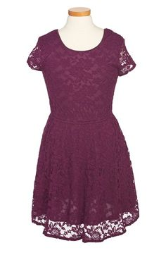 Free shipping and returns on Ruby & Bloom 'Jessamine' Lace Dress (Little Girls & Big Girls) at Nordstrom.com. A flowery lace overlay creates charming style on a chic cap-sleeve dress fitted with a twirl-ready skirt.
