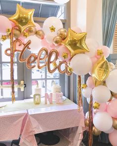 We are whimsical gangstas y'all! What a fun installation to put together for . Girl First Birthday, First Birthday Parties, First Birthdays, Baby Balloon, Cake Smash, Themed Cakes, Party Fashion, Centerpieces, Balloons