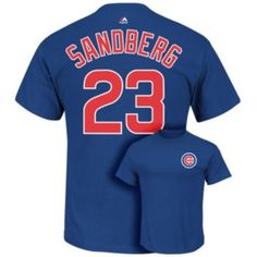 e67689d7062 Men s Majestic Chicago Cubs Ryne Sandberg Player Name and Number Tee