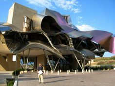Top 30 World's Weirdest Hotels … Never Seen Before! ... Hotel Marqués de Riscal It is situated in Rioja alavesa, Spain. This fascinating hotel with its colorful titanium canopies that take the shape of ribbons consists of two sections with 43 rooms. The two sections of the hotel are connected to each other with a footbridge. The fabulous ribbons are not only used as decorative pieces, but they are also function as sunshades. └▶ └▶ http://www.pouted.com/?p=30907