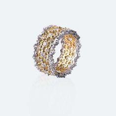 Buccellati Pizzo Venezia yellow and white gold with diamonds https://www.facebook.com/pages/Diamond-Dream-Fine-Jewelers/ https://plus.google.com/+DiamondDreamFineJewelersBernardsville https://twitter.com/diamond_dream_ https://www.instagram.com/diamonddreamjewelers/