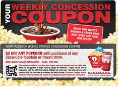 Cinemark - Get $2 Off Any Popcorn w/ Drink Purchase Printable Coupon (Valid 8/1-8/7) | SassyDealz.com