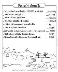 Játékos tanulás és kreativitás: Felszíni formák gyakorlása 3. 400 M, Nature Study, Geology, Geography, Kindergarten, Earth Day, Classroom, Teacher, Science