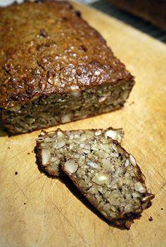 Melfritt naturlig Paleo nøttebrød