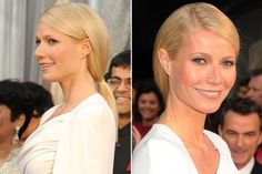 Gwyneth Paltrow's faux-bob/low slung ponytail. gorgeous for everyday or an awards show kind of day! xoxo Beautylove Aprons