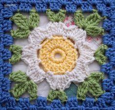 wip: daisy chain | yarnaway: a crochet scrapbook Ek wil so kombersie doen, min of meer dieselfde kleure ook