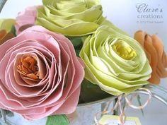 Cómo hacer rosas grandes de cartulina (1)