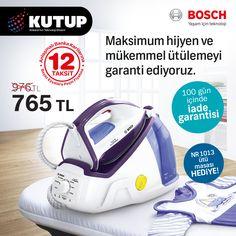 Kutup'ta Bosch ütüler ütü masası hediyeli... Üstelik 100 gün iade garantili... #kutup #kutupplus #kutupgarantiplus #kutupas #ankara #bosch #boschankara #kampanya #teknoloji #ütü #hediye #ütümasası
