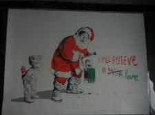 I Still Believe in Love MBW print Santa Christmas Mr Brainwash poster banksy